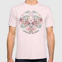 Lily, Leaf & Triangle Pa… Mens Fitted Tee Light Pink SMALL