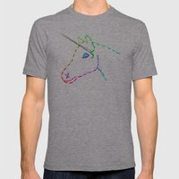 unicorn Mens Fitted Tee Tri-Grey SMALL