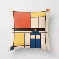 Mondrian Who Throw Pillow