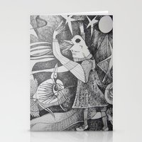 Bird Girl Stationery Cards