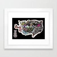 panther tongue Framed Art Print