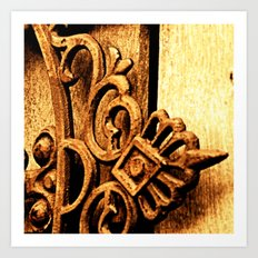 Metalwork and Wood Art Print