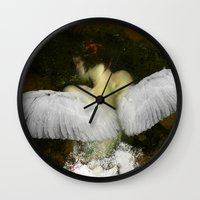 The angel of the hope Wall Clock