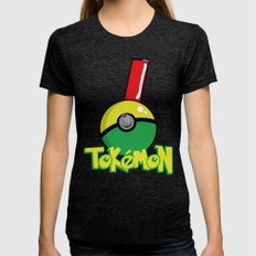 Tokemon GO Womens Fitted Tee Tri-Black SMALL