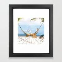 Chill, Relax, It's Summe… Framed Art Print