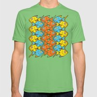 Something is Nicely Fishy Here! Mens Fitted Tee Grass SMALL