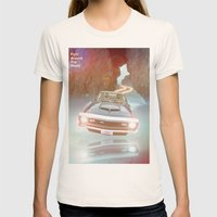 Flyin' Car II Womens Fitted Tee Natural SMALL