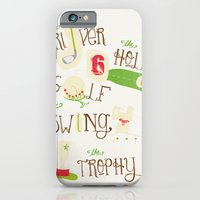 iPhone & iPod Case featuring Golf  by Crea Bisontine