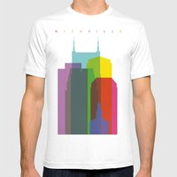 Shapes of Nashville Mens Fitted Tee White SMALL