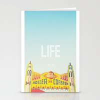Life Is A Roller Coaster Stationery Cards