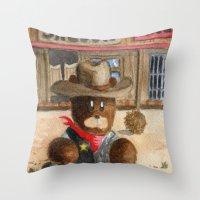 Sheriff Bear Throw Pillow