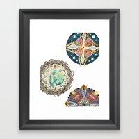 Three Decorated Wheels Framed Art Print