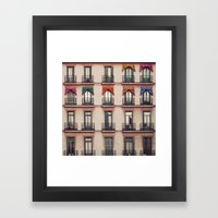 Balconies Framed Art Print