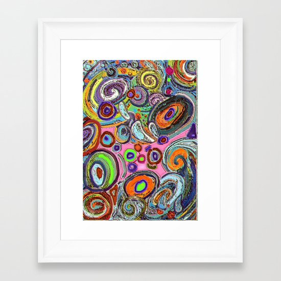 Abstracto Rocoso Framed Art Print