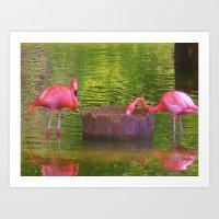 Pink times 2 Art Print