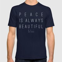 Peace Mens Fitted Tee Navy SMALL