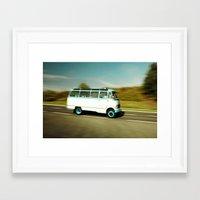 Mercedes Bus Oltimer O 319 Framed Art Print