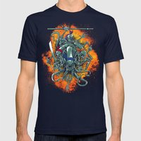 Bay's Alien turtles! Mens Fitted Tee Navy SMALL