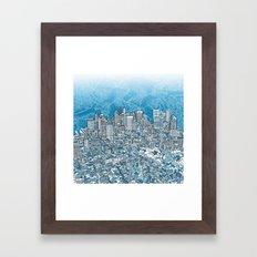 boston city skyline Framed Art Print