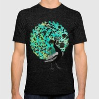 Neon Peacock Mens Fitted Tee Tri-Black SMALL