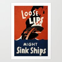 Loose Lips. Art Print