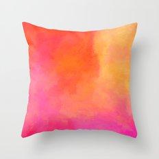 Texture orange kisses pink Throw Pillow