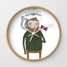 No Worries Woodsman Wall Clock