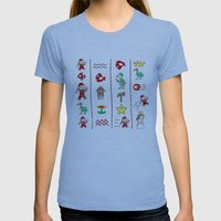 The Legend of Mario Womens Fitted Tee Athletic Blue SMALL