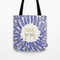 Treat Yo Self – Gold &… Tote Bag