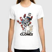 Clones Womens Fitted Tee White SMALL