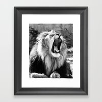 Tired King Framed Art Print