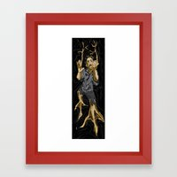 Fight the Evolution Framed Art Print