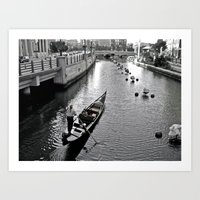 Condola at Waterfire in Providence, Rhode Island Art Print