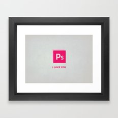 Ps I love you Framed Art Print