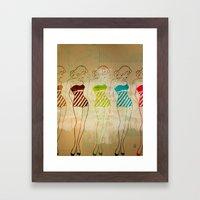 Retro Swimsuit Framed Art Print
