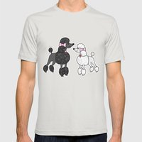 Pretty Poodles Mens Fitted Tee Silver SMALL
