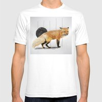 Smiling Fox Mens Fitted Tee White SMALL