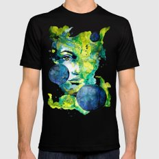 Evelin Green (Set) by carographic watercolor portrait SMALL Mens Fitted Tee Black