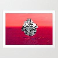 Orb In Sea Art Print