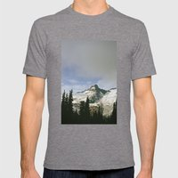 Mountain Snow Mens Fitted Tee Tri-Grey SMALL