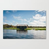 House on Water Canvas Print