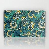 Green Boho Floral Pattern Laptop & iPad Skin