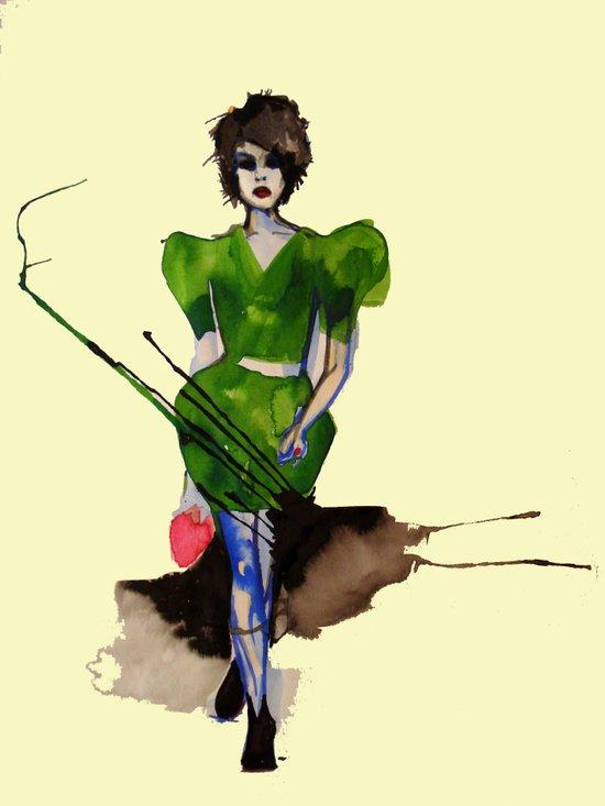 Models Ink 11 Art Print