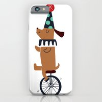 iPhone & iPod Case featuring circus dog by Joanne Liu