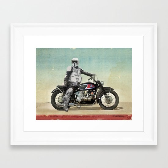 Looking for the drones, VW Scout Trooper Motorbike Framed Art Print