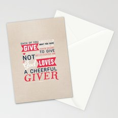 2 Corinthians 9:7 Stationery Cards