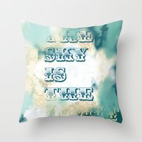 The Sky is the Limit Throw Pillow