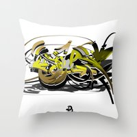 3d graffiti - soul Throw Pillow
