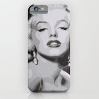 iPhone & iPod Case featuring Marilyn Monroe by  David Somers