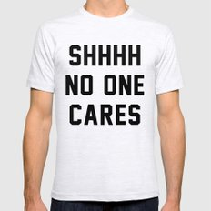 No One Cares Mens Fitted Tee Ash Grey SMALL